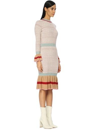 Uzun Kollu Triko Elbise-Endless Rose